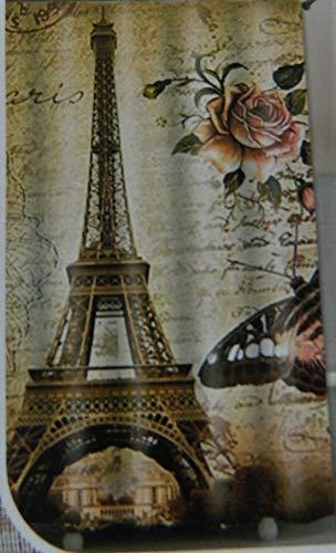 digesman Rideau de douche - Mer Motif poisson - 180 x 180 cm