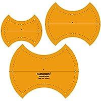 Corazón de manzana Quilting Patchwork Escala Forma plantilla Conjunto de 3 piezas