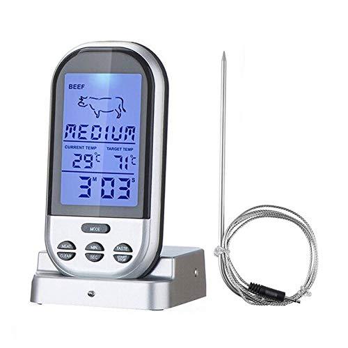 Termómetro Digital inalámbrico de cocción de Carne con Control Remoto inalámbrico y...