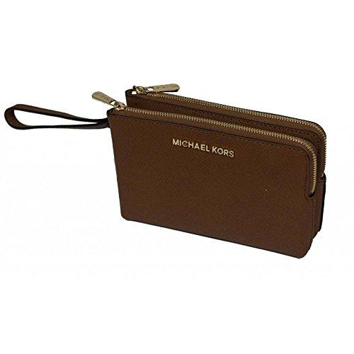 Michael Kors Doppel-Geldbörse, Brieftasche - Braun (Luggage)