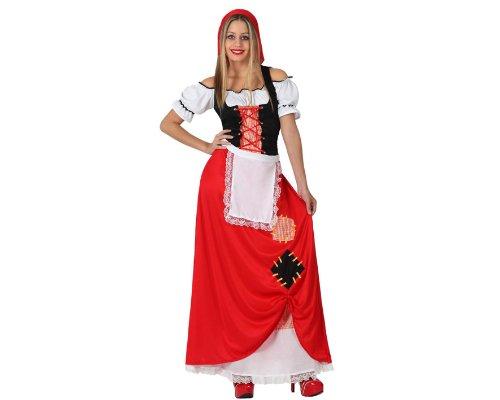 Atosa-17248 Atosa-17248-Disfraz Pastora Mujer Adulto-Talla Navidad, Color Rojo, M-L (17248)