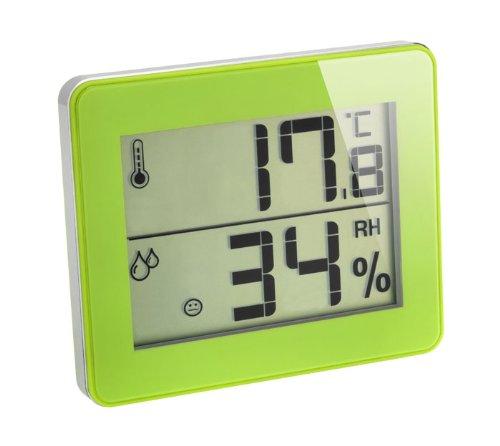 Digitales Thermometer-Hygrometer Ultra-Flat Raumklimakontrolle TFA 30.5027 (Grün)