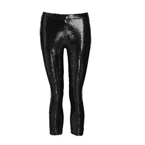 QinMM Pantalones Lentejuelas elásticos Mujer Cintura