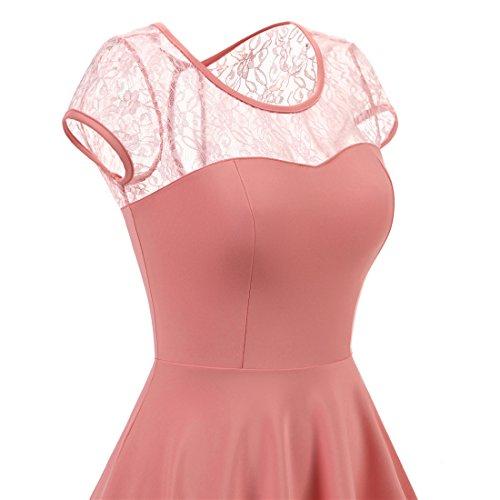... Wedtrend Elegant A-linie Cocktailkleid Kurz Spitzen Abendkleid für Damen  Blush a22d8a1c3f