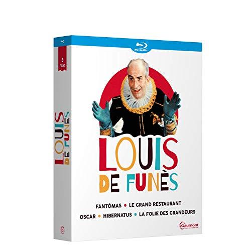 Louis de Funès - 5 films cultes : Fantomas + Le grand restaurant + Oscar + Hibernatus + La folie des grandeurs [Blu-ray] [Import italien]