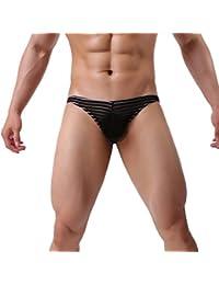 BeautyTop Herren Erotik Männer Slip Dessous Underpants String Tanga Unterwäsche Unterhosen Bambusfaser Modale Hosen Ultra Dünn Garn Bequeme Briefs Höschen Underwear