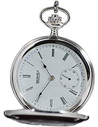 Bernex Swiss Made Mechanical Solid Sterling Silver Demi Hunter Pocket Watch
