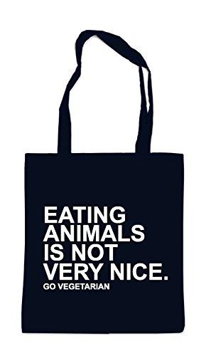 Eating Animals Is Not Nice Sac Noir