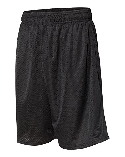 Russell Athletic Men's Mesh Short with Pockets, Black, Small (US)