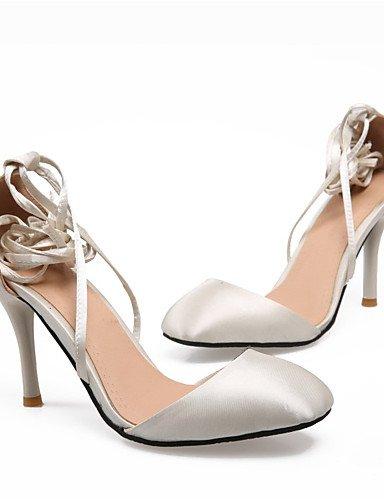 UWSZZ IL Sandali eleganti comfort Scarpe Donna-Scarpe col tacco-Ufficio e lavoro / Formale / Casual-Tacchi / Punta squadrata-A stiletto-Seta-Nero / Viola / Rosso / Beige beige
