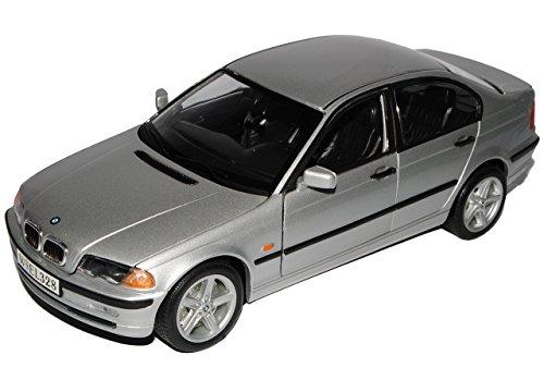 Unbekannt B-M-W 3er E46 328i Limousine Silber 1998-2007 1/18 Welly Modell Auto mit individiuellem Wunschkennzeichen (Bmw 2002 Modellauto)