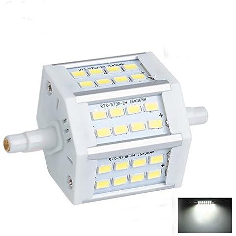 Lampadina LED R7s J7878mm, Dimmerabile, Bianco caldo, 24LED 5730SMD 10W 85–265V di ricambio e di sicurezza PIR faro lampadina, cold white, r7s, 10.00 wattsW 220.00 voltsV
