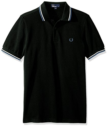 Fred Perry Herren Twin gekippt m3600-Polo-shirt Ivy Black Oxford Ivy Black Oxford