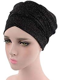 83fe713027a5 Bigood Simple Bonnet Élastique Femme Chapeau Turban Musulman Écharpe Doux