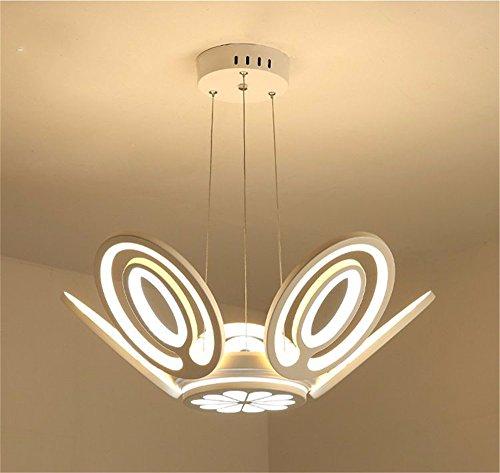 Stil Kuppel Licht (SLKDJFN Stilvolle Acryl Blatt Kuppel Licht Einfach Stil Top Kunst Aus Blatt Esszimmer Deckenleuchte Doppel Farbe Licht Deckenbeleuchtung)