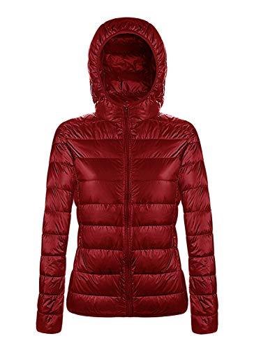 Angerella Mujer Otoño Rojo Ultra Ligero Packable