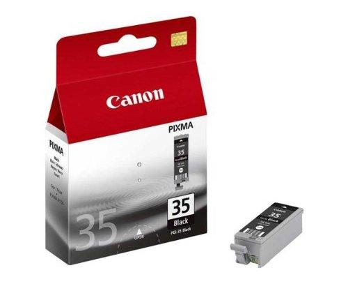 Original Tinte passend für Canon Pixma IP 110 + Battery Canon PGI35, PGI35BK, PGI-35BK 1509B001 - Premium Drucker-Patrone - Schwarz - 191 Seiten - 9,3 ml -