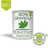 100% Bio Graviola Blattpulver. 75 g. Hergestellt in Deutschland. Bio & Vegan. Stachelannone. Soursop. Guanabana. Corossol. Guyabano.