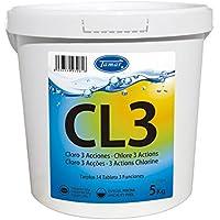 Tamar - Cloro 3 Acciones, Tabletas Multifuncion de 200 grs, Bote de 5 Kilos