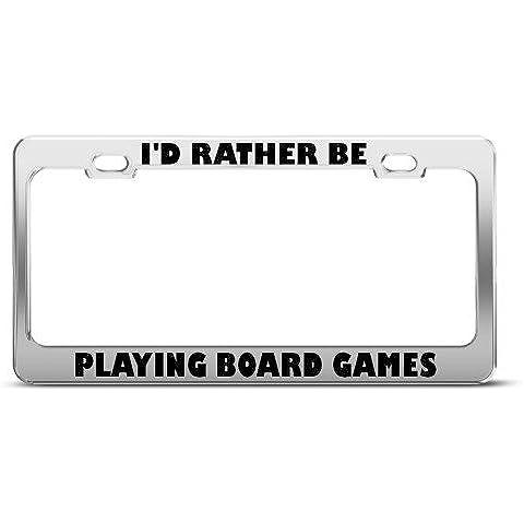 I' d Rather Be Playing etichetta per giochi da tavolo cornice targa in metallo