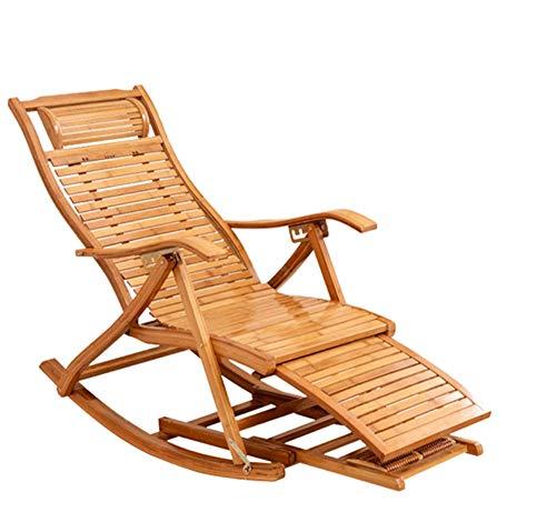 QXX Freizeit Lounge Chair Bamboo Lazy Klappstuhl Home Wohnzimmer Outdoor Nap Comfort Single Massagesessel Kleines Sofa DREI Stile 47 × 55 cm (größe : A) -