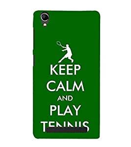 Fuson Designer Back Case Cover for Intex Aqua Power Plus :: Intex Aqua Power + (Cheer Up Play Tennis tennis Love Player Champion)