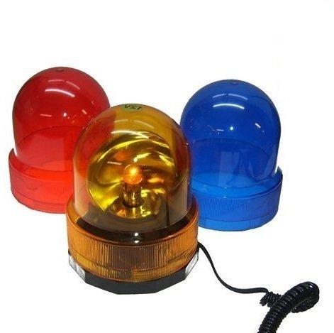 DKB-Tools-Germany DKB Magnet Rundumleuchte mit Magnetfuss Warnlicht Blau - Orange - Rot