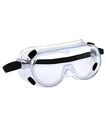 3M 1621 Polycarbonate Safety Goggles for Chemical Splash, Pack of 1,Clear