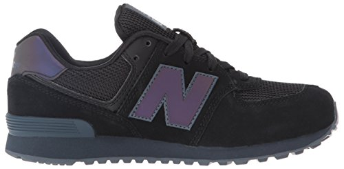 New Balance 574, Baskets Basses Mixte Enfant Noir (Black)