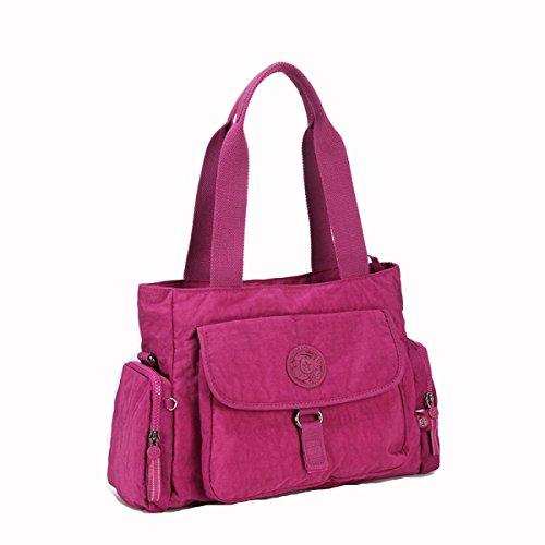 GSHGA Damen Tasche Handtasche Mode Schultertasche Umhängetasche,Fuchsia (Brieftasche Handtasche Fall)