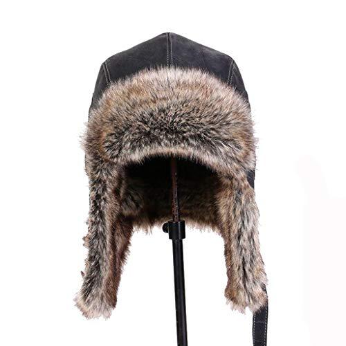 Nosterappou Casquette de Moto de Voyage Coupe-Vent Doublure Hiver Chaude, Casquette de Ski Femme d'hiver Confort et Poste d'hiver Multifonctionnel Chaud et Unisexe (Taille : XL)