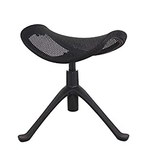 NSC Hocker Klappstuhl Pedal Lifting Mechanic Yoga Hocker Rollende Fuß Matten Möbel Für Home-Office-Küche Theke,Black