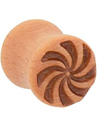 PIERCINGLINE® Holz Double Flared Plug WINDRAD