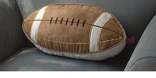 Rugby Geformte Überwurf Kissen Fußball Sofa Polster American Football Kissen Kid Geschenk Idee braun