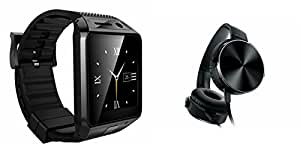 MIRZA Bluetooth DZ09 Smart Wrist Watch & Extra Extra Bass XB450 Headphones for OPPO U3(Extra Extra Bass XB450 Headphones& DZ09 Smart Watch Wrist Watch Phone with Camera & SIM Card Support Hot Fashion New Arrival Best Selling Premium Quality Lowest Price with Apps like Facebook,Whatsapp, Twitter, Sports, Health, Pedometer, Sedentary Remind,Compatible with Android iOS Mobile Tablet-Assorted Color)