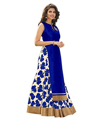 M&M WORLD. Cotton & Crush Lehenga Choli (01-LH-ROSANI-BLUE_Blue_Free Size)