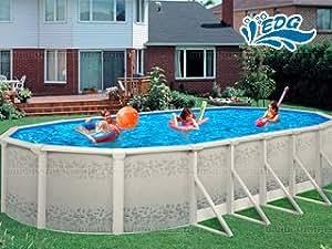 Kit piscine acier résine FLAMENCO Luxe 9.8x4.9x1.32m EDG 103565