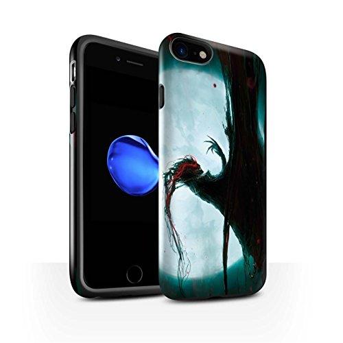 Offiziell Chris Cold Hülle / Glanz Harten Stoßfest Case für Apple iPhone 7 / Dunkelste Stunde Muster / Dämonisches Tier Kollektion Dramargu/Vollmond