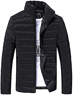 OverDose abrigos hombre invierno cremallera de soporte ligero chaqueta gruesa caliente