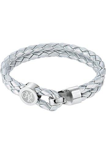 GMK Collection by CHRIST Damen-Armband Edelstahl/Lederimitat One Size, silber (Damen Collection Leder)