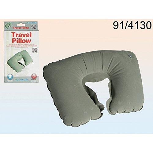 Coussin de voyage gonflable gris - Pour dormir, relaxation, repos, nuque, cou