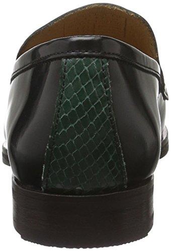 Gant Nicole, Mocassins Femme Vert - Grün (Black/Green G002)