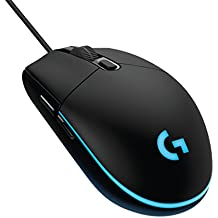Logitech G203 Gaming Mouse, Optical 6,000 DPI, 16.8 M Colour LED, Customising Wired Gaming Mouse