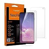 Spigen, 2Pezzi, Pellicola Samsung Galaxy S10, NeoFlex, Compatibile con Il sensore a ultrasuoni, TPU, Non Vetro, Copertura Completa,...