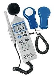 """PeakTech""""4 in 1"""" Multifunktions-Umweltmessgerät mit Lux-Meter, Schallpegelmessung, Temperatur und Luftfeuchtigkeit, 1 Stück, P 5035"""