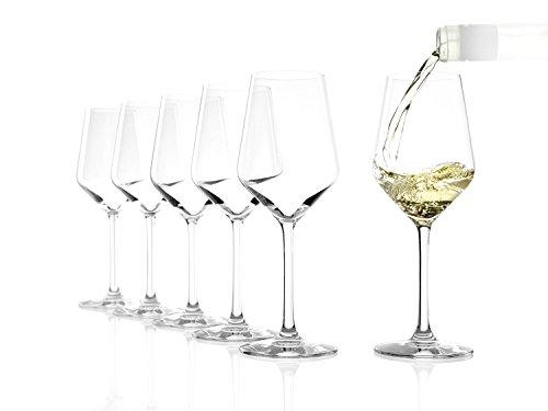 Copas Revolution para vino blanco de Stölzle Lausitz, de 365ml, juego de 6, copas para vino blanco sofisticadas y de alta calidad, copas para vino blanco de uso versátil - 3