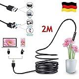 FullBerg 2M USB Endoskop 5,5mm mit 6 LEDs Und 2 Meter Schlange Kabel, Wasserdicht Boreskop Inspektion Kamera HD Für Android Phone Tablet Gerät PC