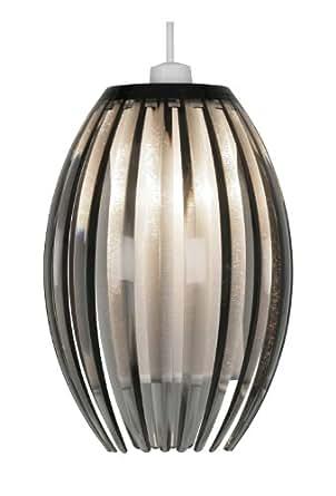 Oaks Lighting 699S SM Shimna Smoke Acrylic Rib Pendant Shade with Diffuser