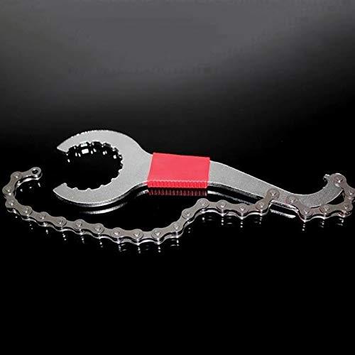 CamKpell 3 In 1 Fahrradkette Peitsche Tretlager Freilaufschlüssel Reparatur Entferner Werkzeug Kette Demontage Schraubenschlüssel Fahrrad Repair Tool