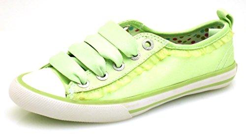 Primigi Stoffschuhe Sneaker Low Mädchenschuhe gelb grün Gr. 31 Grün